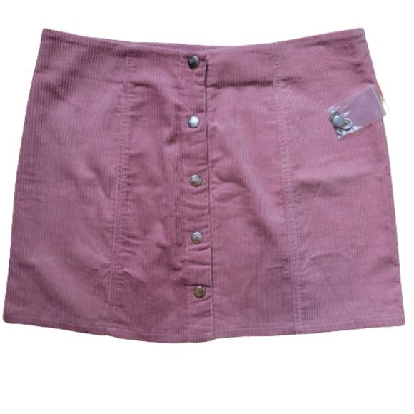 Forever 21 Nwt blush Pink mini corduroy  skirt